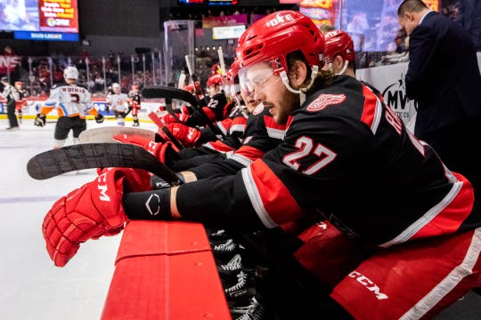 An injury has limited forward Michael Rasmussen to 18 games this season for the Grand Rapids Griffins.
