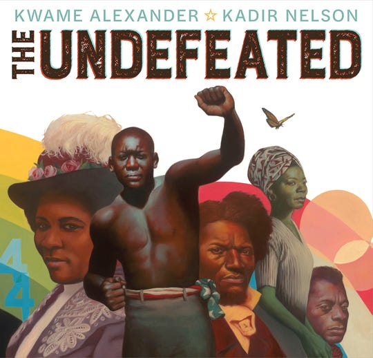 """The Undefeated"" by Kadir Nelson, a poetic tribute to African American history, featuring the words of Kwame Alexander."