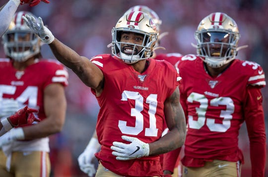 San Francisco running back Raheem Mostert has served time on five teams' practice squads. The 49ers are his seventh NFL team.