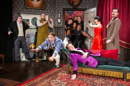 "The national tour of ""The Play that Goes Wrong"" will stop at the Clemens Center this week."