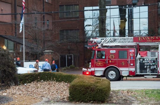 Evansville Fire Department responds to a fire alarm at Berry Global Tuesday morning, Jan. 28, 2020. The first call came at 7:30 a.m. and was quickly extinguished and contained.