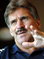 A 2005 file photo of Dave Wannstedt when he was the head football coach at the University of Pittsburgh. Wannstedt, a Naples resident, will cover Super Bowl LIV in Miami this week as an analyst for FOX Sports.