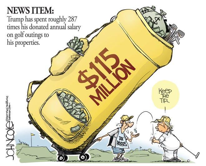 Trump's golf costs.