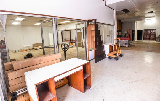 Renovation work has begun at the Pacific Arcade building which temporary housed the Guam Legislature, located on the corner of Hesler Place and Padre Palomo Street in Hagåtña as seen on Thursday, Jan. 2, 2020.
