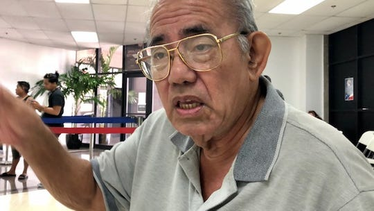World War II survivor Herbert Cruz, 78, says he's almost given up hope on getting war reparations. He's one of those who went to the Guam War Claims Processing Center on Jan. 28, 2020, to seek assistance with his claim.