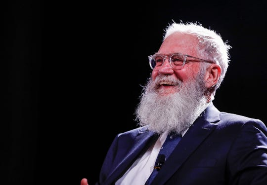 David Letterman makes a guest appearance at the Madam Walker Legacy Center, Indianapolis, Tuesday, Jan. 28, 2020. Letterman was the recipient of the BIll McGowan Leadership Award.