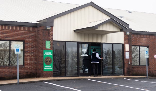 A person enters the Tennessee Department of Correction Community Resource Center in Jackson, Tenn., on Tuesday, Jan. 28, 2020. Participants of a new anti-recidivism program will report to the building on a weekly basis starting in February.