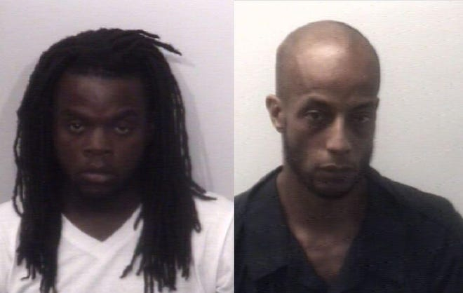 Aleriq Smith, 20, left, and Johnathon Douglas, 33, right, each face multiple charges after two separate shots fired incidents in Jackson on Jan. 26, 2020.