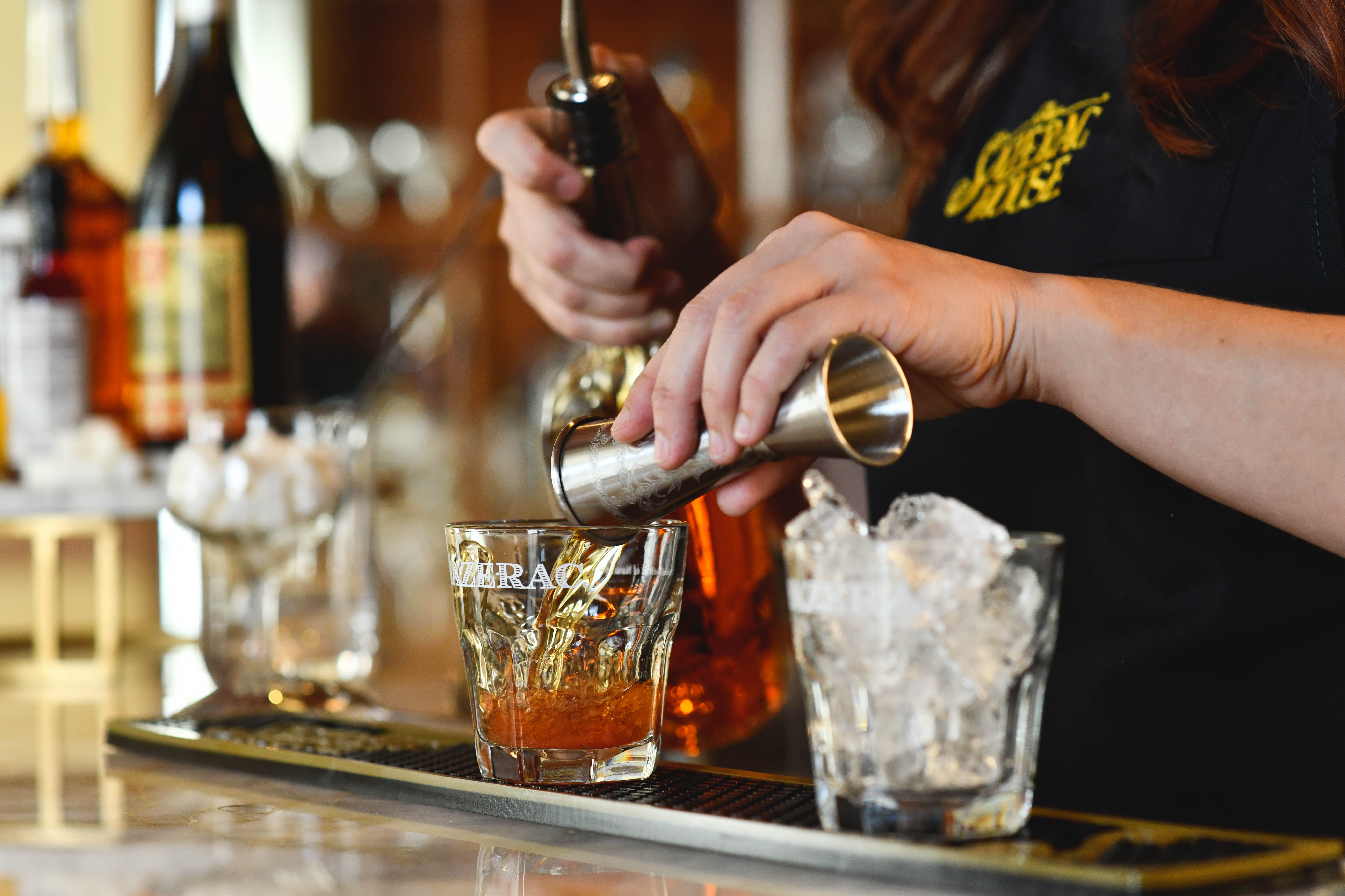 """It wasn't until around 1899 that bartenders started to get creative with drinks — and the """"Sazerac cocktail"""" was named."""