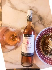 St. Regis Shiraz Rose is dry and fizzy like the real thing.