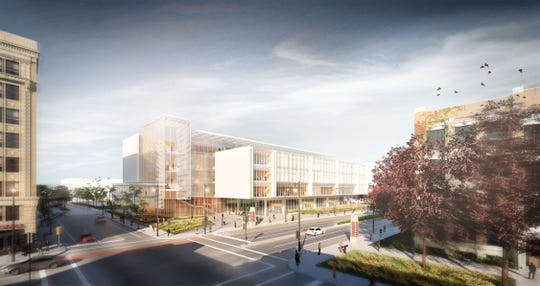 A rendering of  Marquette's new College of Business building.