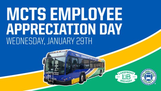 Lakefront Brewery will give Milwaukee County Transit employees a free beer on Wednesday.