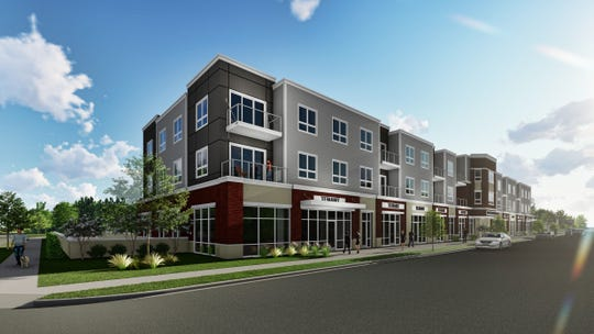 Sussex will soon get a three-story  building with 40 apartment units on the second and third floors. The first floor will have approximately 18,000 square feet of multi-tenant retail space available. A Mexican restaurant, pizza and coffee shop and outdoor beer garden is slated to open May 1.
