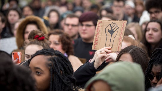 Students and faculty from all over Ball State University's campus protest on Jan. 28 at the University Green after a viral incident of a professor calling police on a black student who refused to move seats in class last week. Momentum over the issue has only grown in the student populace who want to see reform on the university level.