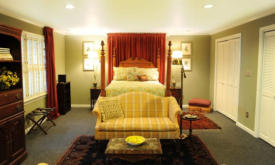 The Captain's Quarters rental is more the style of a studio apartment and can sleep up to two people in downtown Franklin.