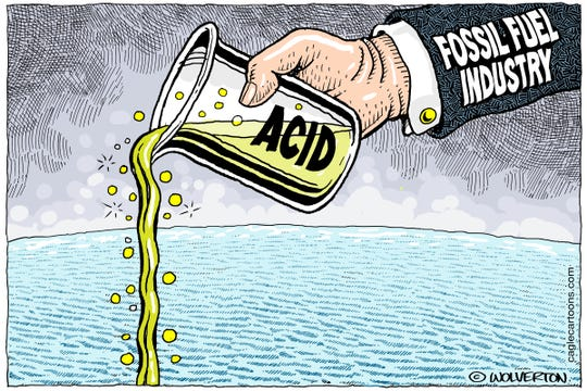 Oceans becoming more acidic.