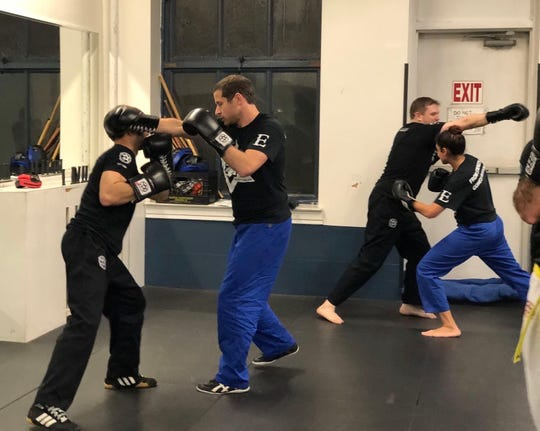 Students sparring at a Legion course in Manhattan.