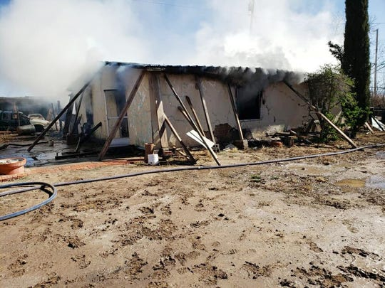 A La Union family lost their mobile home in a fire, Tuesday Jan. 28, 2020.