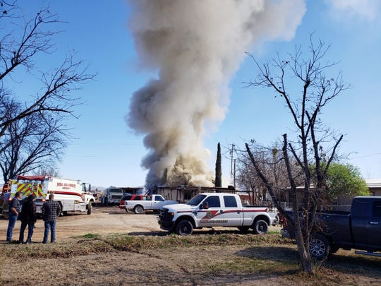 A La Union family lost their mobile home in a fire, just before 11 a.m., Tuesday Jan. 28, 2020.