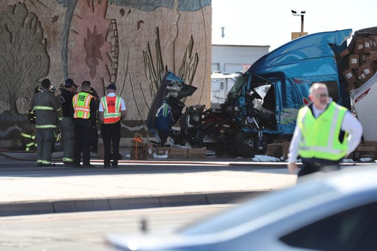 The I-10 eastbound at milepost 140 passing left lane was closed due to the semitruck accident. The crash also affected the underpass at Avenida de Mesilla, which was completely closed to all traffic.