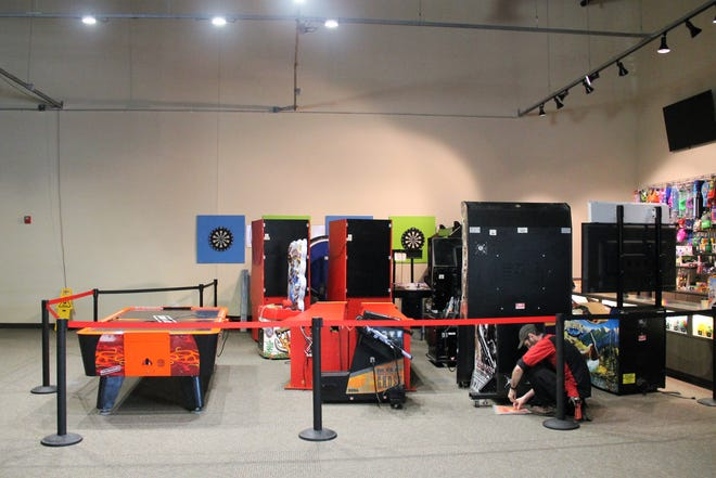 Arcade games are being installed at the Rocket City Family Fun Center.