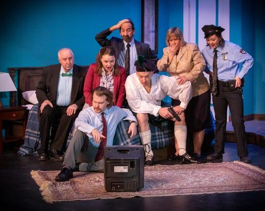 """The cast of the Farmington Barn's """"Unnecessary Farce."""""""