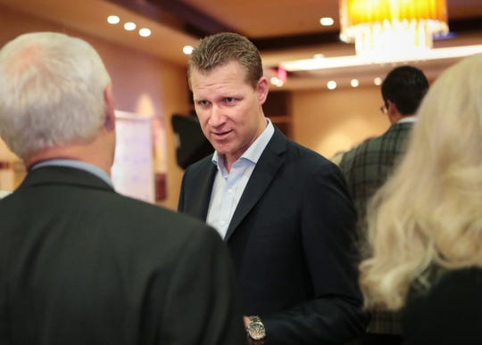 State Assemblymember Chad Mayes mingles prior to The Rammys at Agua Caliente Resort Casino in Rancho Mirage, Calif., on Thursday, January 23, 2020.