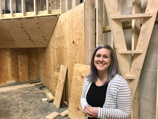 Jessica Storm owns Rock Bottom Climbing, the new climbing gym in Hanover that will tentatively open its doors in February 2020.