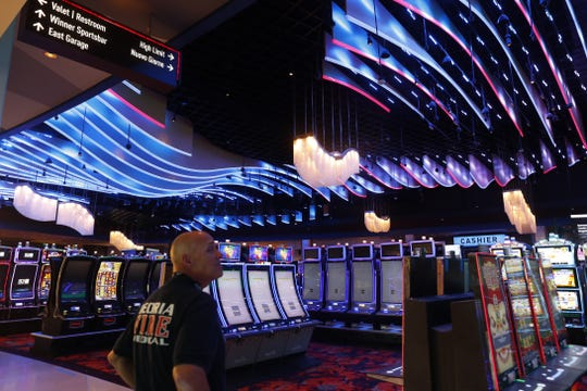 Public safety officials tour the new expanded interior Desert Diamond Casino - West Valley on in Glendale on Jan. 27, 2020.