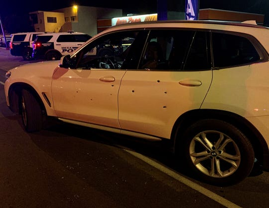 Two women were shot while inside their SUV near Rio Salado Parkway and Country Club Drive in Mesa on Jan. 27, 2020.