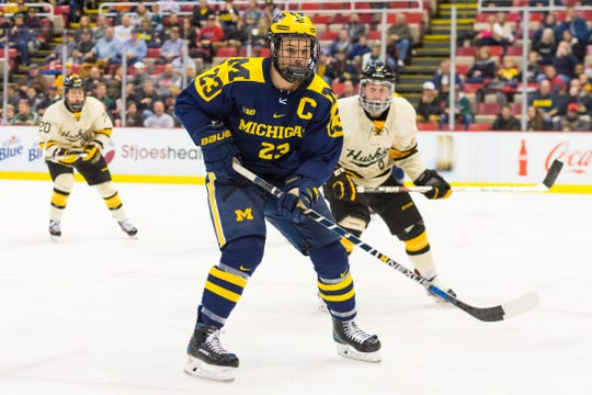 Former Michigan hockey player Alex Kile was drafted by the Port Huron Yeti in the second round of the National Roller Hockey League draft on Saturday, Jan. 25.