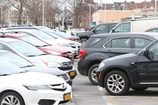 Cars parked in the Henry Street municipal lot in Beacon on January 28, 2020.