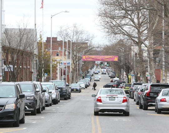Cars parked along Main Street in Beacon on January 28, 2020.