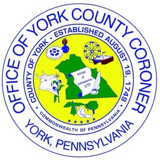 The official seal of the York County Coroner's Office is pictured in this photo.