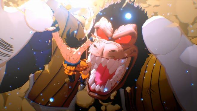 Goku vs. Oozaru Vegeta in Dragon Ball Z Kakarot for the PS4 and Xbox One.