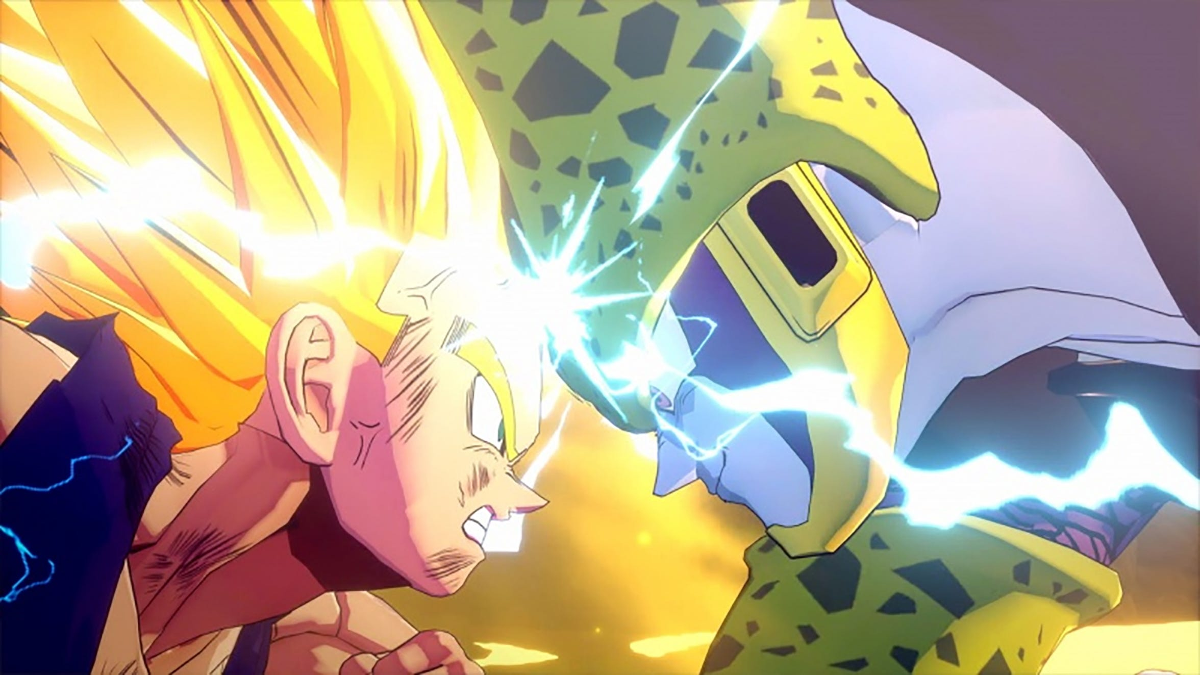 Gohan vs. Cell in Dragon Ball Z Kakarot for the PS4 and Xbox One.