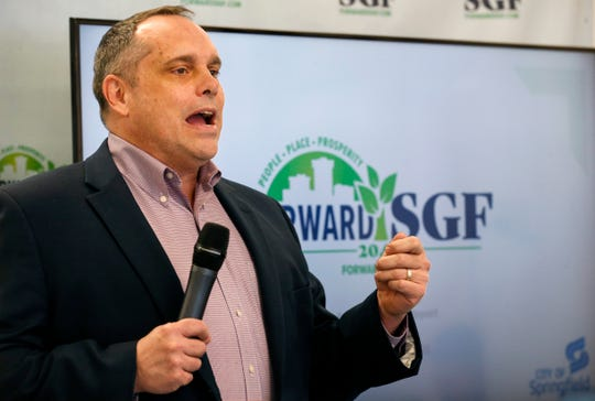 Consultant John Houseal speaks during a Forward SGF meeting on Tuesday, Jan. 28, 2020.