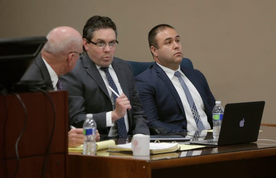 Former El Paso police Officer William Alexander, right, is on trial in an alleged sexual assault in March 2018.