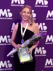 Emily Sinclair, a clinical nurse in the Intensive Care Unit at Inspira Medical Center Mullica Hill, received the Nurse of the Year Award from the March of Dimes New Jersey Chapter in the critical care category.