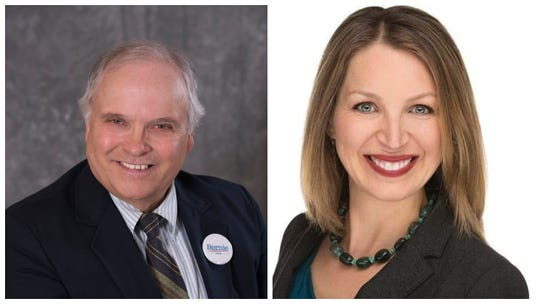 The Democratic candidates for Wisconsin's 7th Congressional District, Lawrence Dale (left) and Tricia Zunker.
