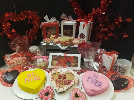 An assortment of goodies for Valentine's Day at Aunt Mia's in Orangeburg.