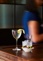 A martini at Kinsley Restaurant in Kingston.