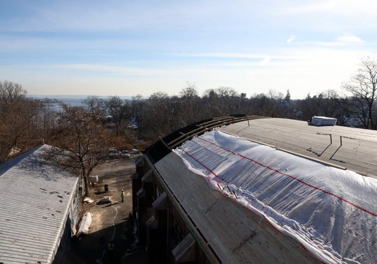 The 23,0000 square foot New Rochelle Armory has been neglected for decades but a new wooden roof is being installed Jan. 24, 2020. The New Rochelle Armory which the city bought from the state for $1 in 1997 is finally undergoing renovations.