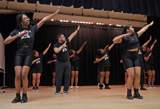 Divas Have Mercy steppers practice at Mercy College in Dobbs Ferry on Jan. 24, 2020.