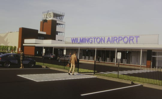 Concept art unveiled for a remodeled New Castle Airport.  Frontier Airlines announced Tuesday that they would return to the airport and start flying to Orlando in May.