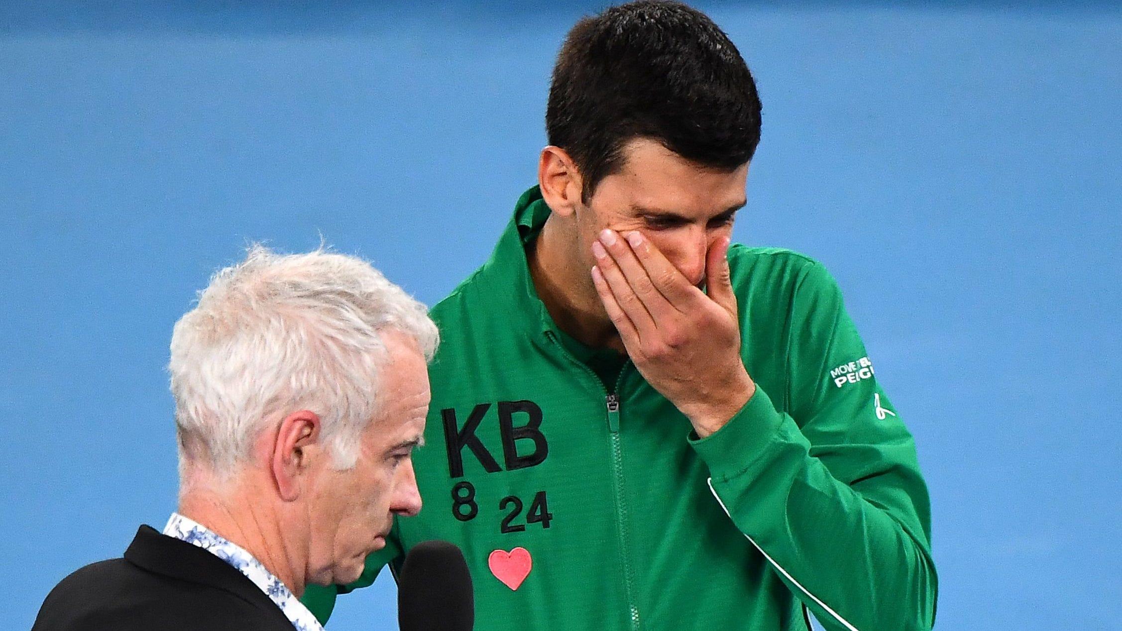 Novak Djokovic Breaks Down In Tears Talking About Kobe Bryant