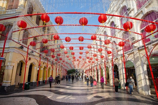 As a result of coronavirus, tourism to Macau, the Chinese equivalent of Las Vegas, had a drop of almost 70% in  Lunar New Year attendance compared to last year.