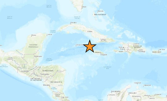 A powerful 7.7 magnitude earthquake hit Jan. 28, 2020, in the Caribbean Sea.