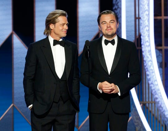 Brad Pitt and Leonardo DiCaprio at the 77th annual Golden Globe Awards. The two apparently have adorable little nicknames for each other.