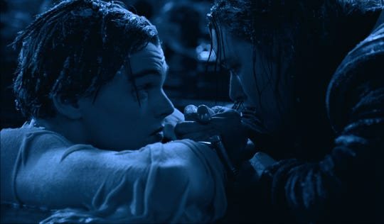 """In a famous scene from """"Titanic,"""" Rose (Kate Winslet) floats on a door while Jack (Leonardo DiCaprio) holds onto the side. The long-running debate among fans: Was there was enough room to save Jack?"""